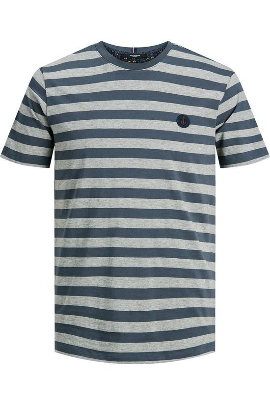 Premium T-Shirt amorgan Ss Crew Light Grey Marle/Mid Blue