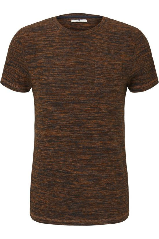 Tom Tailor T-Shirt 1022220 Donkergeel/Donkerblauw