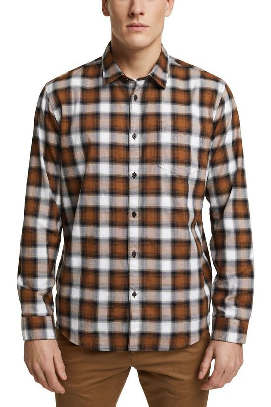 Esprit Shirt 120Ee2F304 Camel Brown/Black