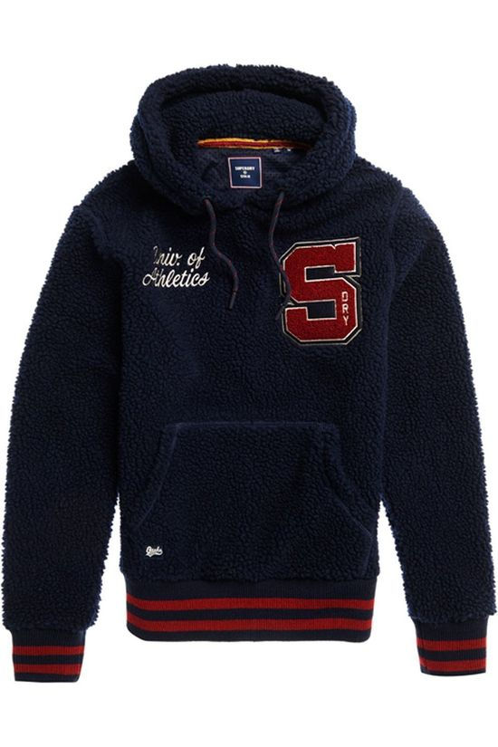 Superdry Fleece Boston Sherpa Hood dark blue