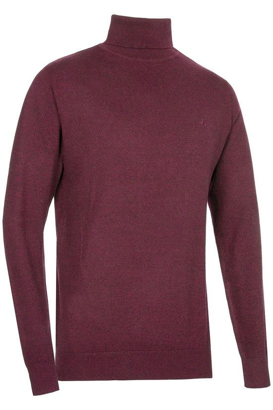 Haze & Finn Pull roll neck Bordeaux / Marron