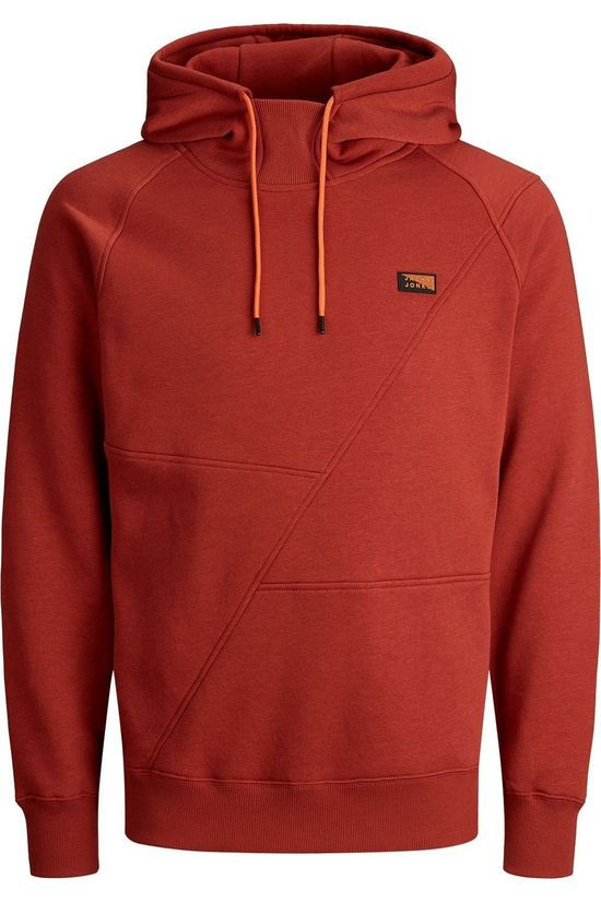 Jack & Jones Pull Jcoponn Sweat Hood Noos Rouge Moyen
