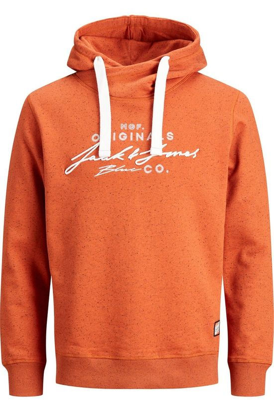 Jack & Jones Trui orreuben Sweat Hood Oranje