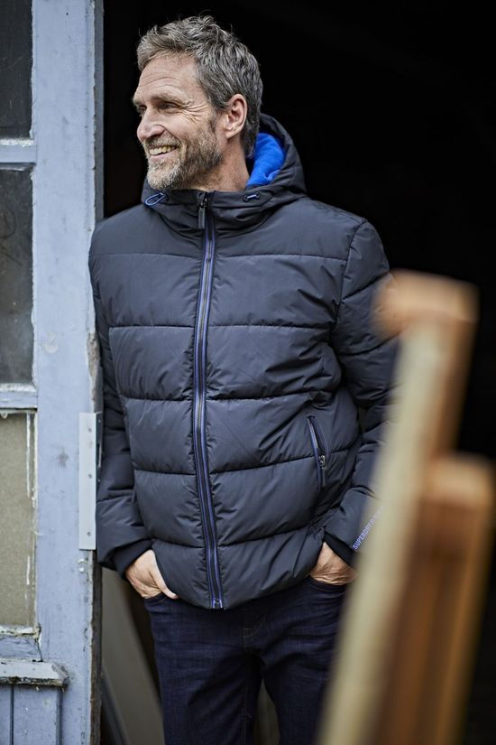 Superdry Coat Sports Puffer black