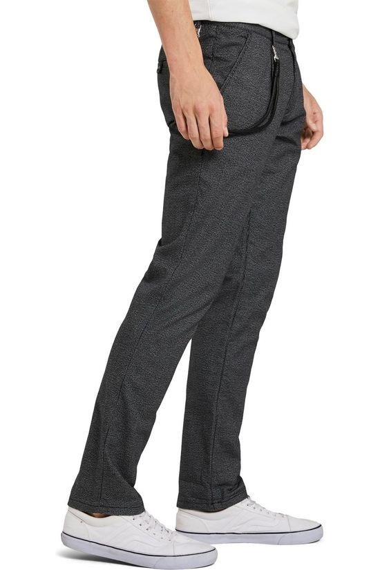 Tom Tailor Pantalon 1022272 Gris Moyen/Ass. Géométrique