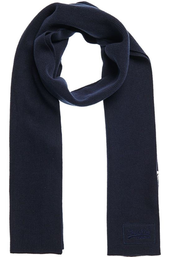 Superdry Scarf Orange Label dark blue