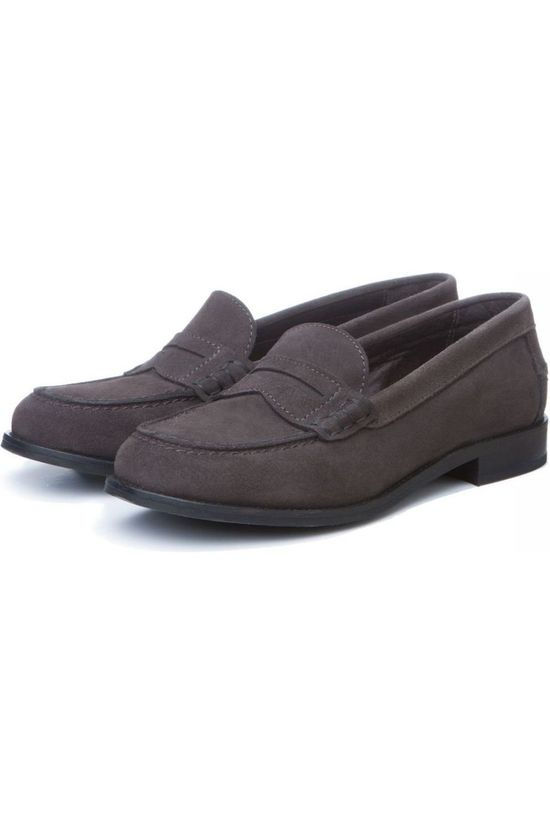 Yaya Shoe Suede Loafer mid grey