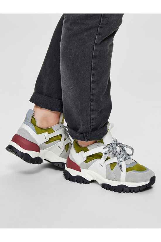 Selected Sneaker Amy Trail Trainer light grey/mid green