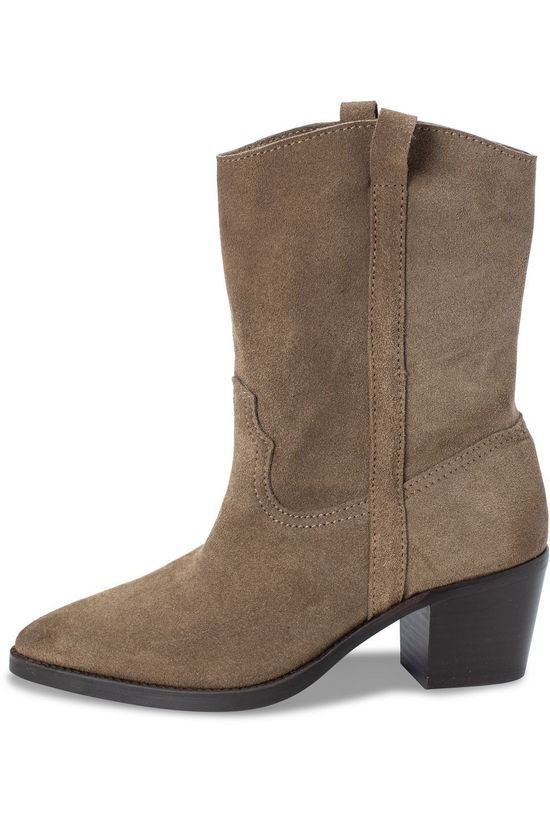 Yaya Boot Suede Cowboy Sand Brown