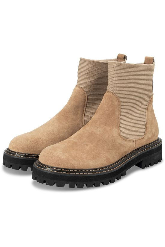 Yaya Boot Suede Chelsea Camel Brown
