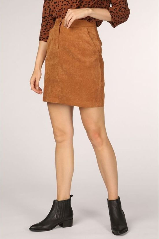 Sugarhill Boutique Skirt Maggie Cord Camel Brown