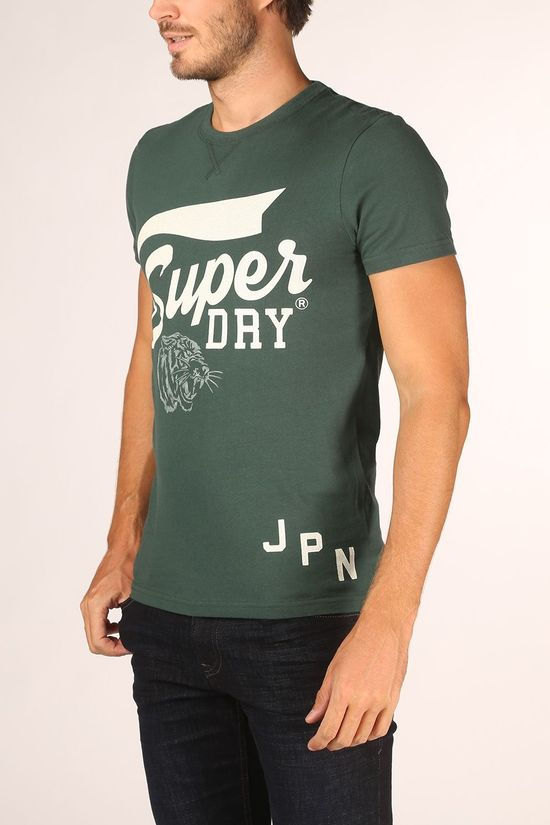 Superdry T-Shirt T&F Classic dark green