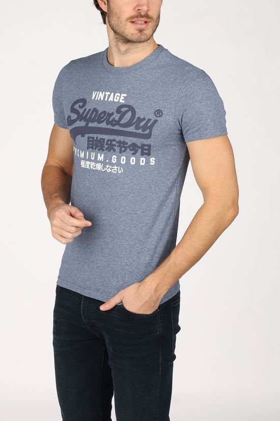 Superdry T-Shirt Vl Ns Blauw (Jeans)