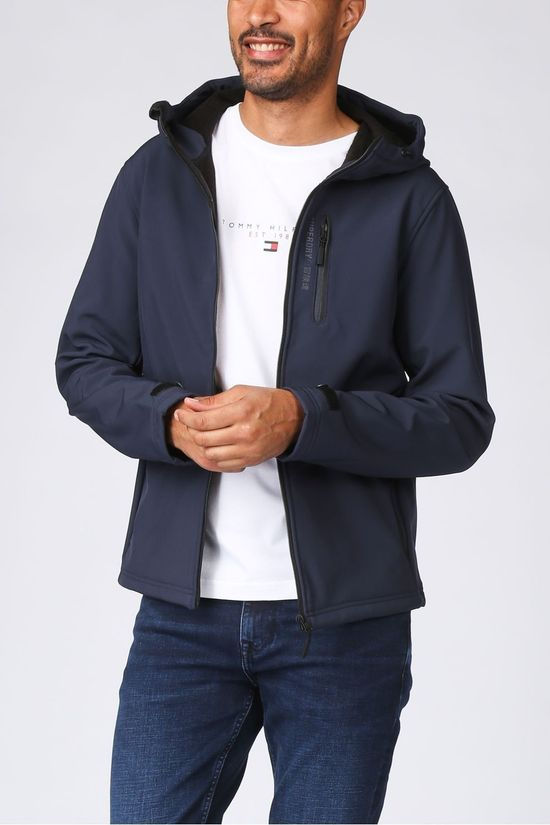 Superdry Manteau Hooded Softshell Bleu Foncé