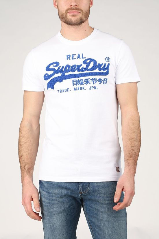 Superdry T-Shirt Vl Chenille 220 Wit