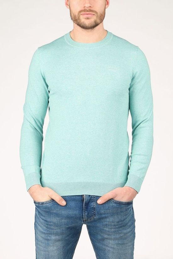Superdry Pull Orange Label Crew Vert Clair