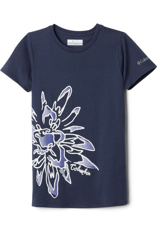 Columbia T-Shirt Peak Point Bleu Foncé/Ass. Fleur