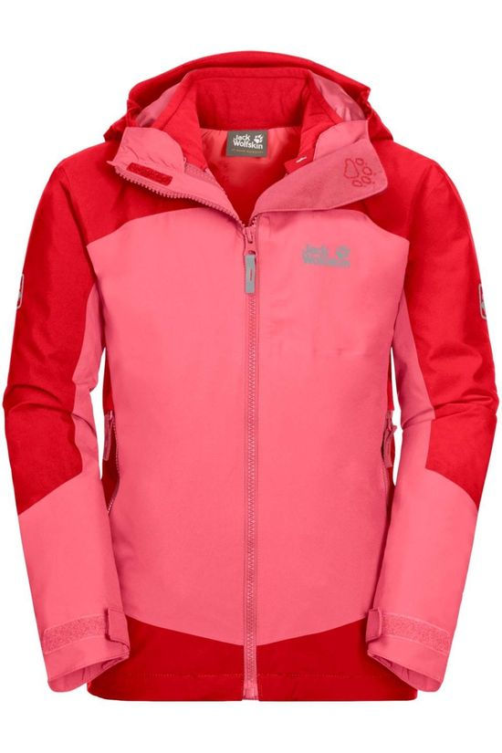 Jack Wolfskin Coat Ropi 3In1 mid pink/red