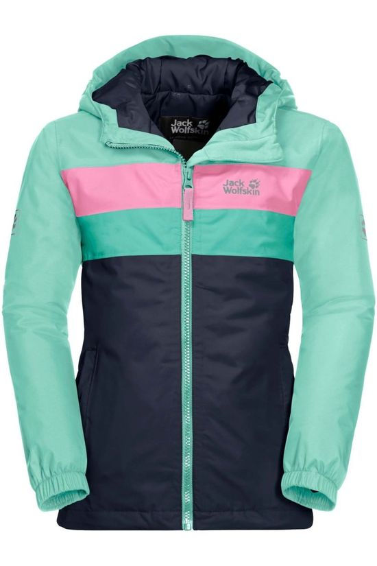 Jack Wolfskin Coat Four Lakes Dark Blue/Turquoise