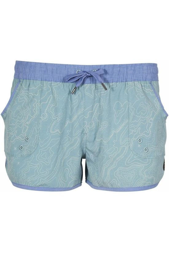 United By Blue Kids Shorts Topography Turquoise