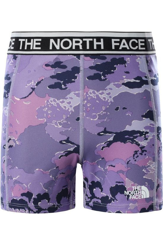 The North Face Shorts Bike Light Purple/Ass. Camouflage