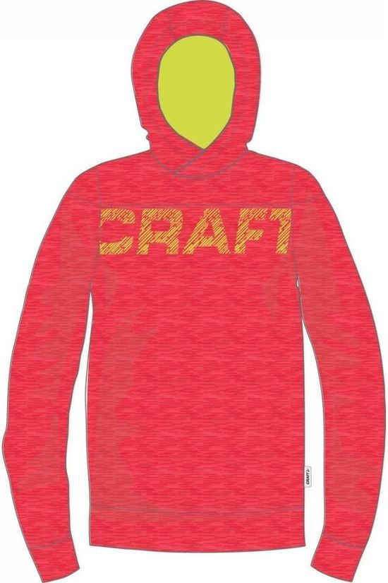 Craft Pull Tag Hood Rouge Moyen/Jaune