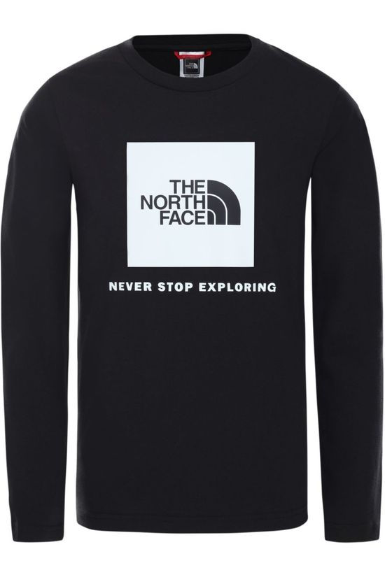 The North Face Trui New L/S Box Logo Zwart/High Vis