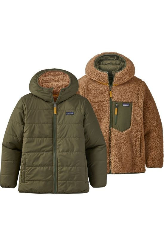 Patagonia Kids Down Paki B Rev Ready Freddy Hoody mid khaki