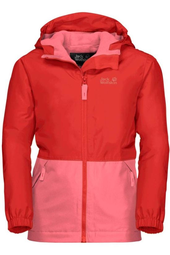 Jack Wolfskin Coat Snowy Days red/mid pink