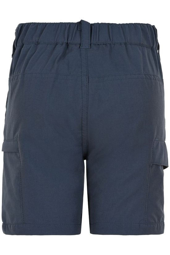 Color Kids Shorts Outdoor W. Side Pockets Donkerblauw