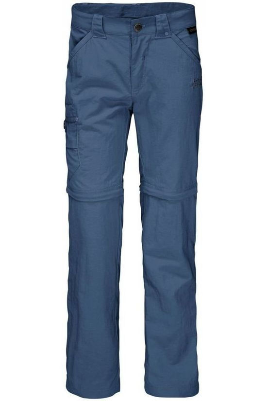 Jack Wolfskin Pantalon Safari Zip-Off K Bleu