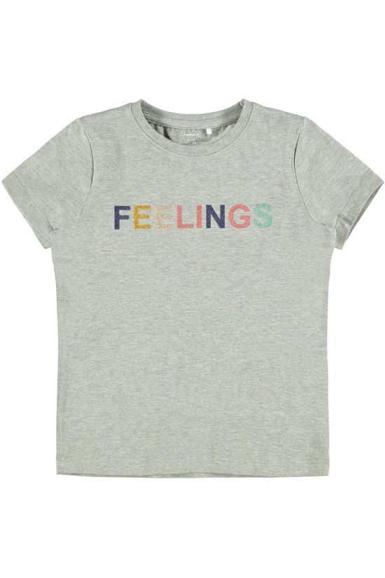 Name It T-Shirt Nkftaliya Box Gris Clair Mélange
