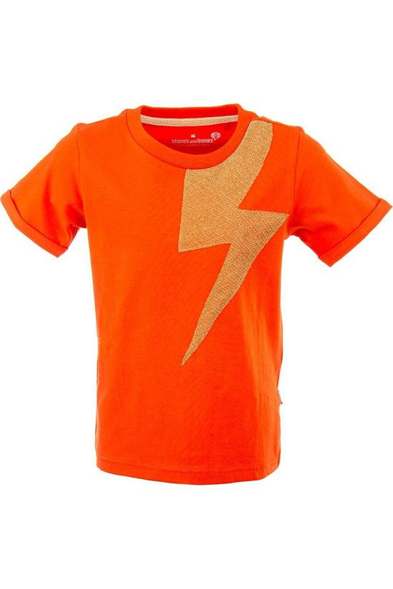 Stones and Bones T-Shirt Josey - Bolt orange