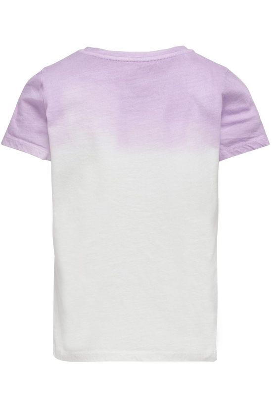 Kids Only T-Shirt Konblake Dip Dye Blanc/Pourpre Clair