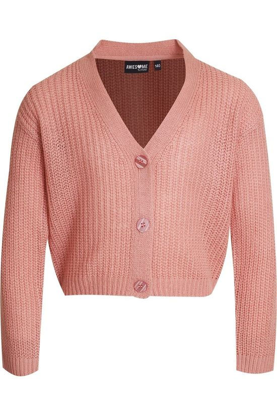 Awesome Cardigan Ines-G-15-B mid pink