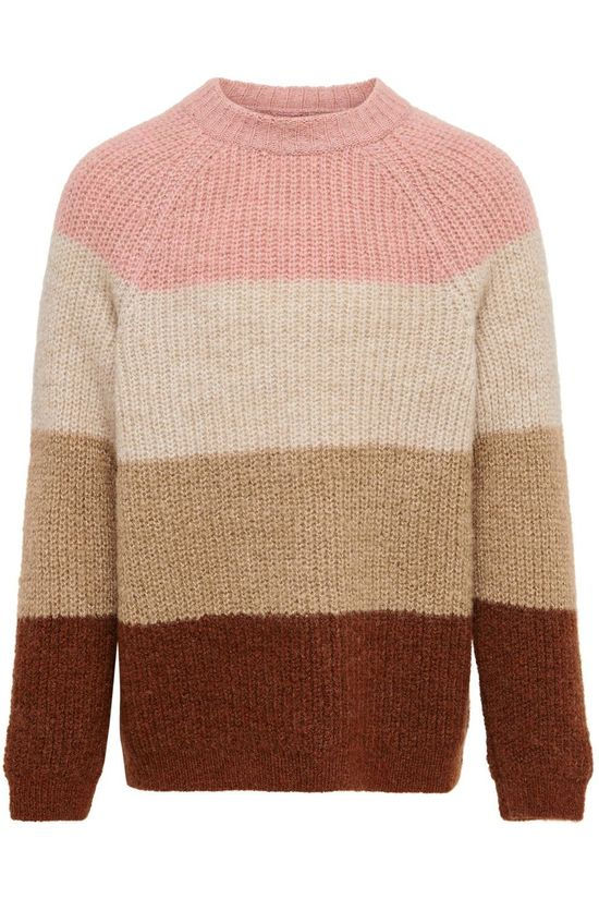 Kids Only Pullover Konjade Stripe Ex Knt Camel Brown/Stripes