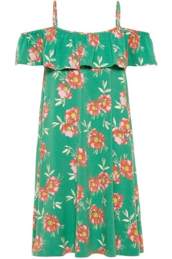 Lmtd By Name It Dress Harmony Offshoulder green/Assortment Flower