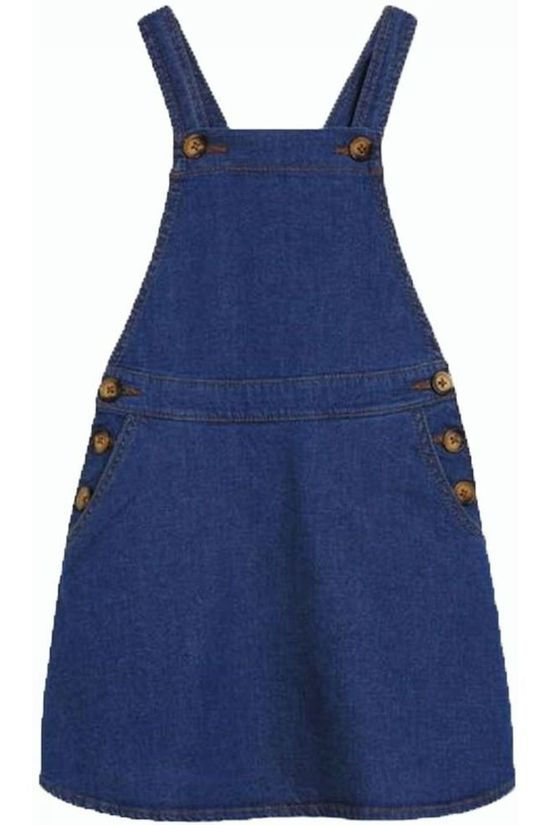 Petit Louie Dress Pinafore Chambray Denim / Jeans/Mid Blue (Jeans)