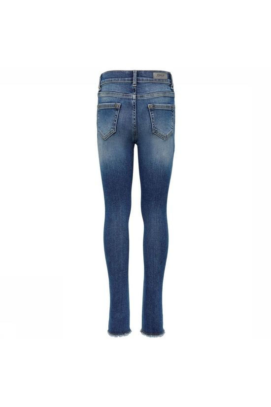 Kids Only Jeans Blush Skinny Raw 1303 Middenblauw (Jeans)