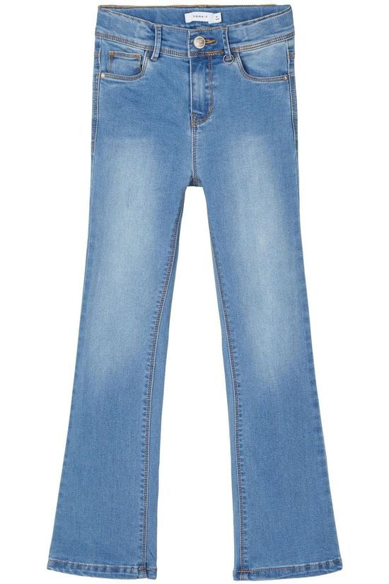 Name It Jeans Nkfpolly Dnmtrillas 2460 Hw Bo Noos Denim / Jeans/Mid Blue (Jeans)