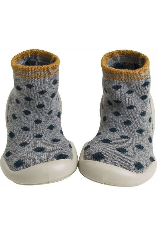 Collegien COLLE CHAUSSONS DOTSY Light Grey Marle/Assorted / Mixed