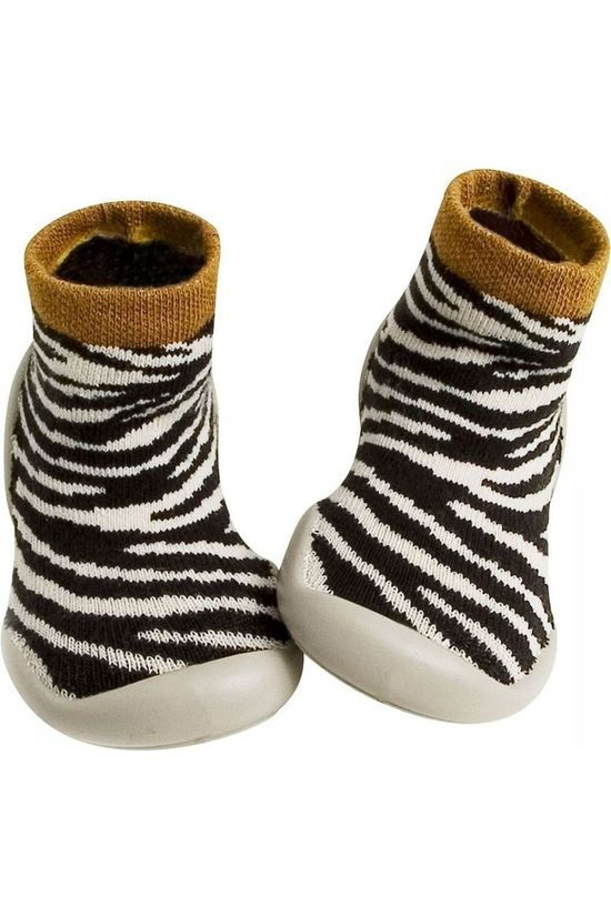 Collegien SOCK COLLE CHAUSSONS ZEBRA black/off white