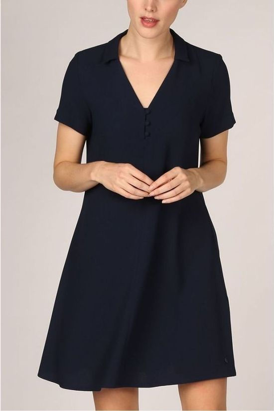 Terre Bleue Dress Zaire Navy Blue