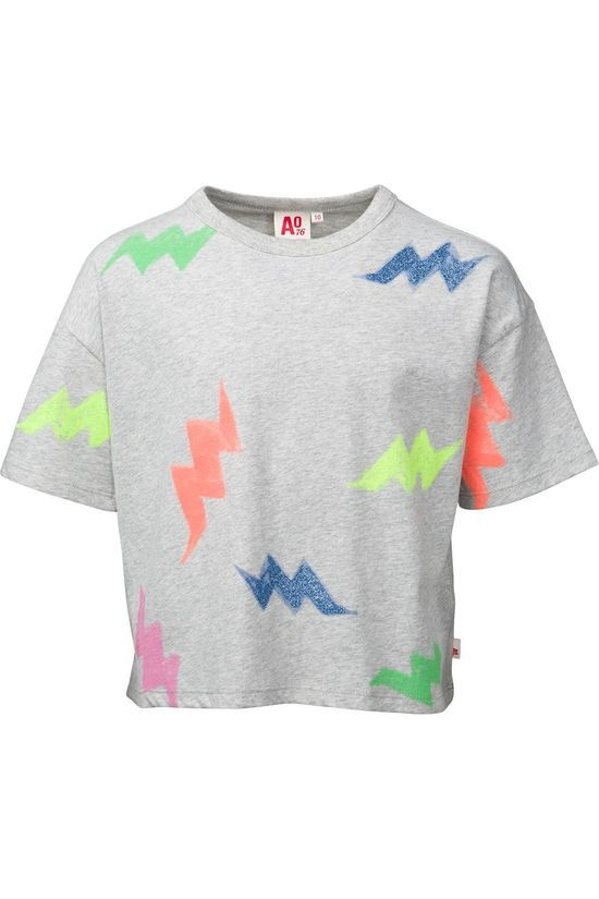 AO76 T-Shirt Oversized Multicolour Light Grey Marle/Ass. Geometric