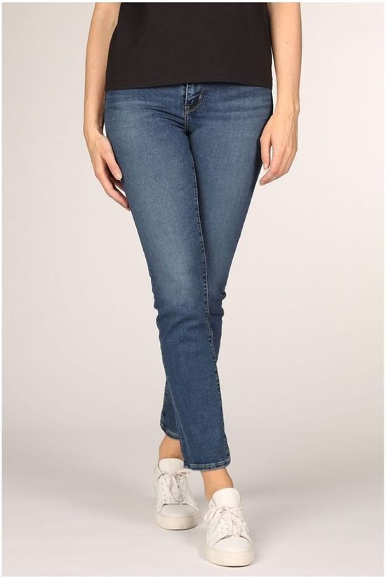 Levi's Jeans 724 High Rise Straight Mid Blue (Jeans)