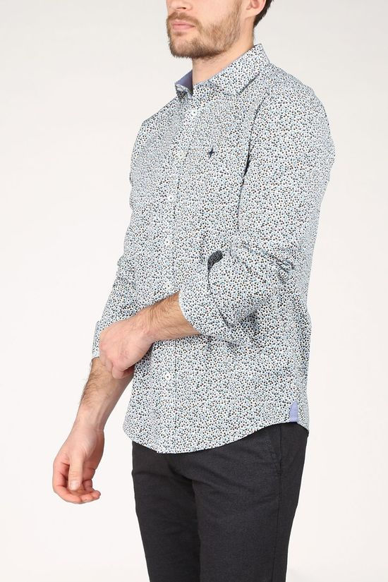 Haze & Finn Shirt Mc15-0110-31 White/Ass. Geometric