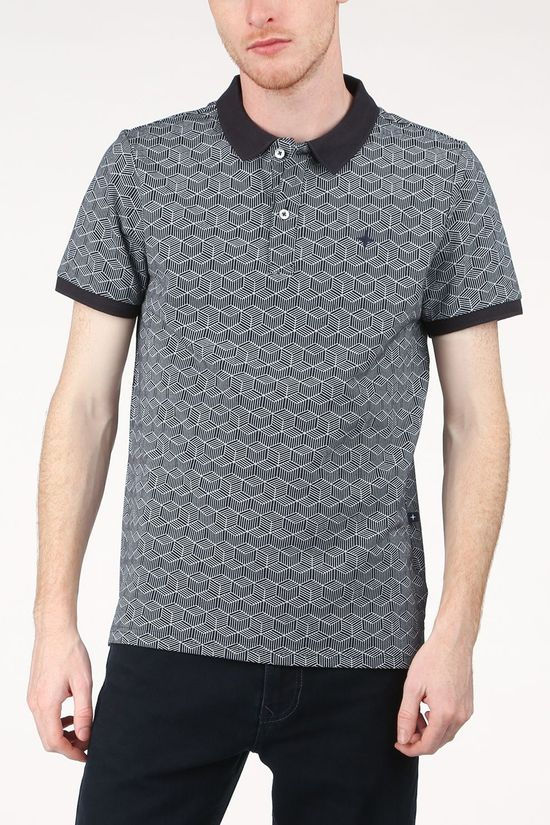 Haze & Finn Polo Mc15-0310 Dark Blue/Ass. Geometric