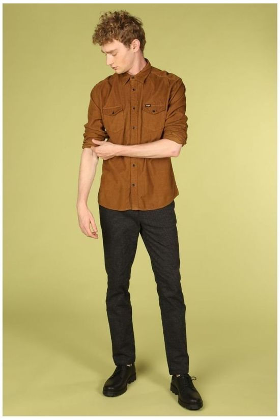 Wrangler Shirt Flap Camel Brown