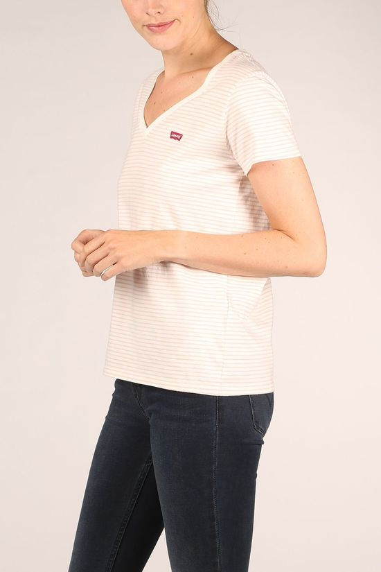 Levi's T-Shirt Annalise Stripe Sepia Rose off white/mid pink
