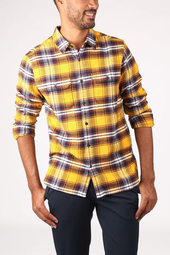 Levi's Shirt Jackson Worker Dark Yellow/Bordeaux / Maroon